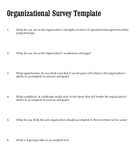blank survey template survey templates 30 free word excel pdf documents