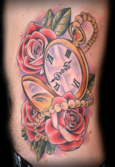 pocket watch tattoo by billy the hay tattoonow