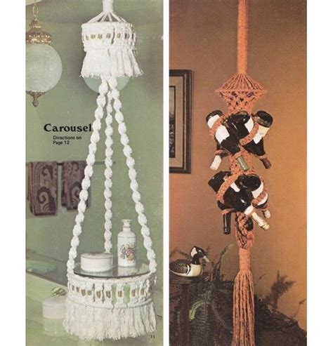 Macrame Craft Ideas - 1970 s crafts vintage 1970 s craft book 10 macrame