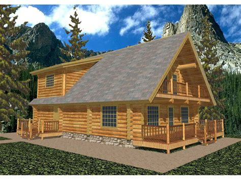 gasconade a frame log home plan 088d 0006 house plans and more