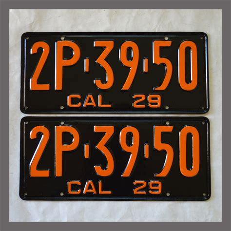 Vanity Plates For Sale by 1929 California Yom License Plates For Sale Restored