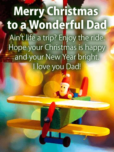 wonderful dad christmas wishes card birthday greeting cards  davia