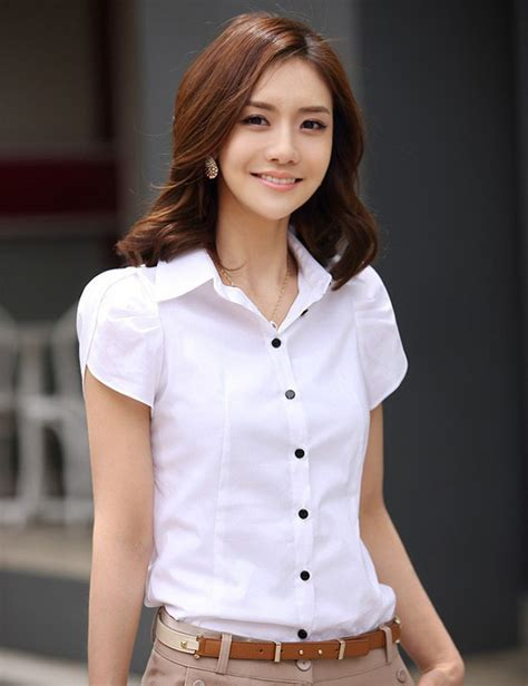 Sale Style Blouse Import sales blusas 2015 new s fashion office shirt lapel puff ol slim white sleeved