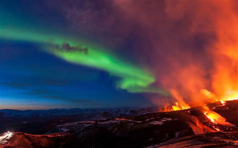 mj iceland mountain fire nature papersco