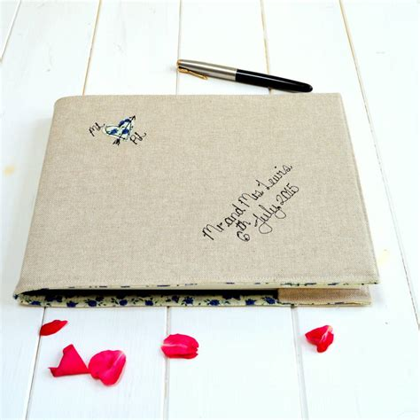 Personalised Wedding Guest Book Handmade - personalised wedding guest book handmade crafts