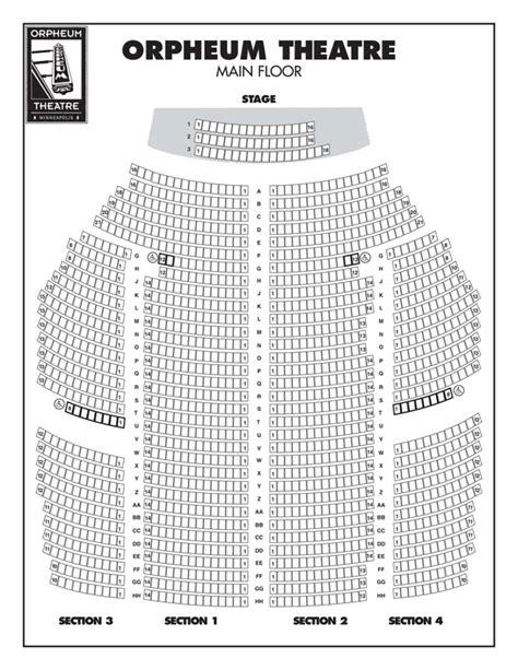 orpheum theatre minneapolis seating map minneapolis mn dec 30 2008 jan 4 2009