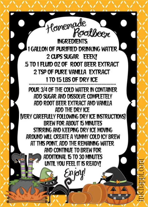 printable homebrew recipes homemade root beer the witch has been brewing inkhappi