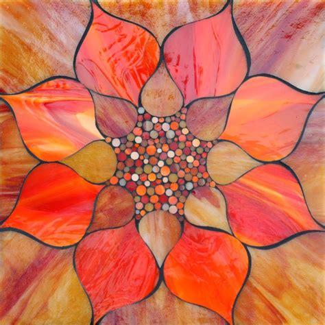 mosaic lotus pattern kasia mosaics fiery lotus flower