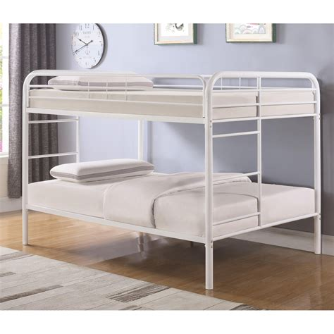 coaster furniture bunk bed coaster metal beds 460379w bunk bed