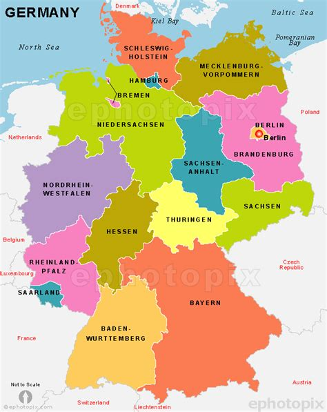 germany map states germany map with cities and states
