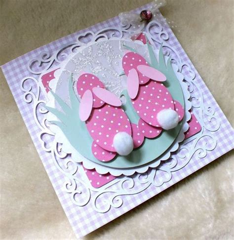 Easter Cards Handmade - luxury handmade easter card bunnies bunny and