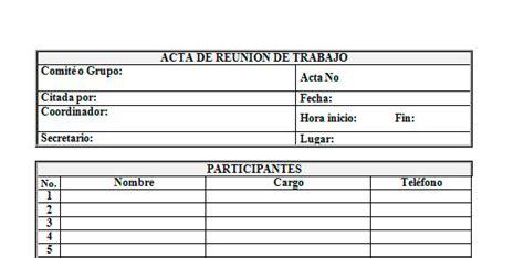 formato de ayuda memoria para reuniones esscribdcom ejemplo de acta de reuni 243 n de trabajo ejemplos de actas