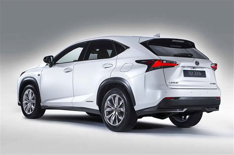 first lexus model lexus nx rear three quarters