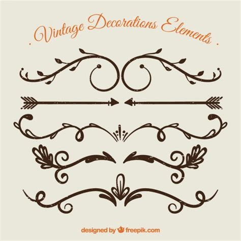antique design elements 30 vector curly vectors photos and psd files free download