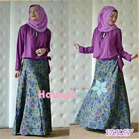 Setelan Zara B zara violet baju muslim gamis modern
