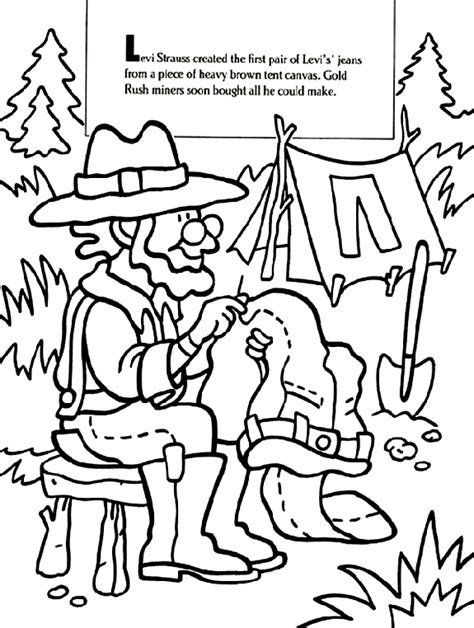 gold rush coloring pages coloring home