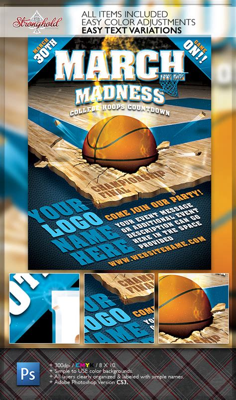 march madness poster templates postermywall