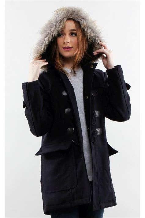 Coat Bulu Coat Fur Untuk Musim Dingin Winter navy detachable hooded coat winter coat