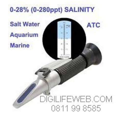 Salinity Meter Salinometer Sa287 Ukur Kadar Garam refractometer salt salinity 0 28 ukur kadar garam