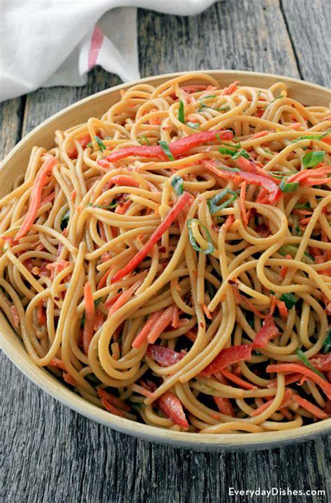 cold noodle salad recipes cold noodle salad with peanut sauce recipe