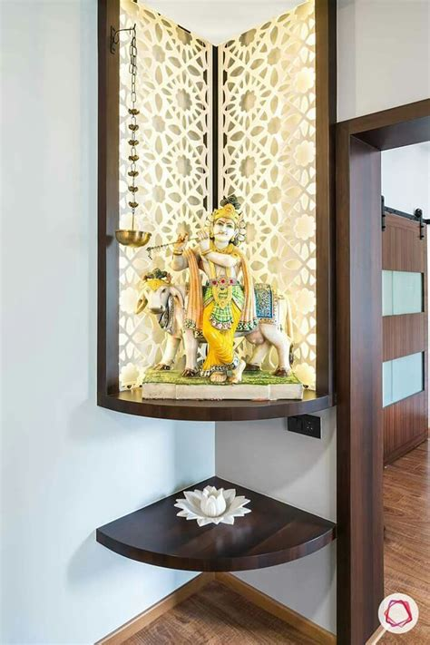compact pooja room temple design  home