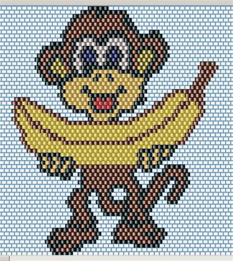 monkey pony bead pattern 391 best images about beading ideas and patterns of
