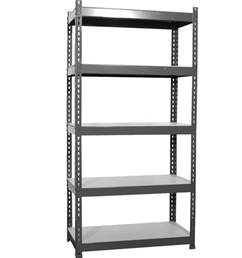 Garage Shelving Metal 1 X Heavy Duty Boltless Garage 5 Tier Black Storage Steel