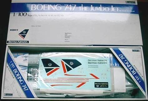 Verpackung Aufkleber Oben by Rwimmer Doyusha Boeing 747 Bausatz British Airways