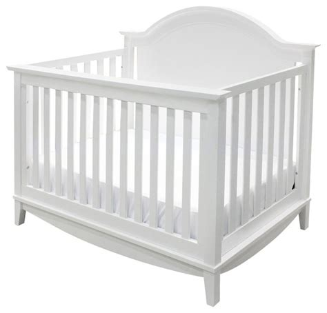 White Modern Baby Crib Arlington 4 In 1 White Crib Modern Cribs By Seldens
