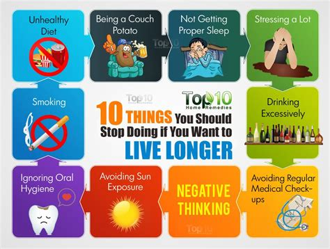 You With You 10 10 things you should stop doing if you want to live longer