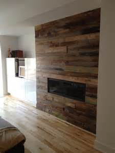 wood tile fireplace best 25 reclaimed wood fireplace ideas on