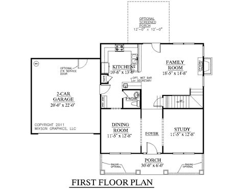 Southern Style Floor Plans by Southern Heritage Home Designs House Plan 1883 B The