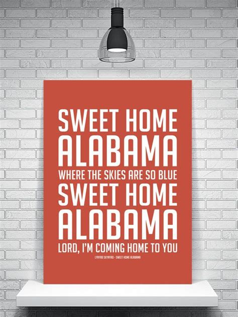 the 25 best sweet home alabama lyrics ideas on