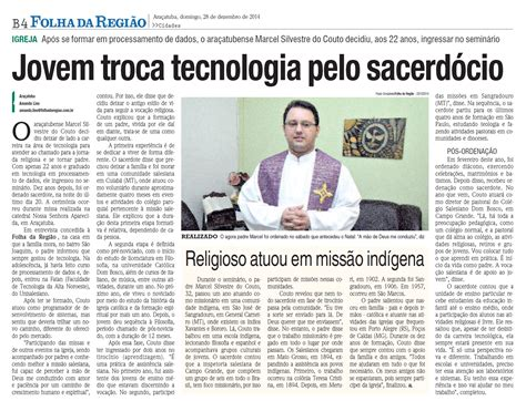 Reportagem Sobre Os Perigos Do by Jornal Folha Da Regi 227 O Publica Reportagem Sobre O Padre Salesiano Marcel Silvestre Do Couto