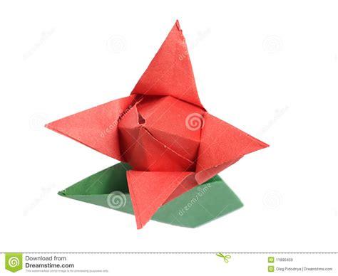 White Origami - origami tulip white royalty free stock images image