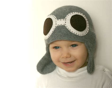 Best Quality Baby Pilot Hat pilot hat for child knit hat aviator hat with goggles baby flyer knit hat boys knit