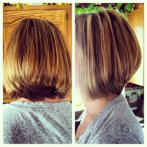 long graduated layers with a side angled or sweeping bang simple natural look the layered bob haircut for thick