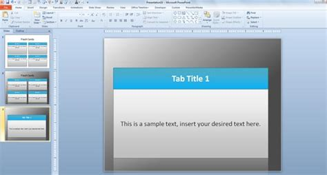 card powerpoint template free flash card template for powerpoint