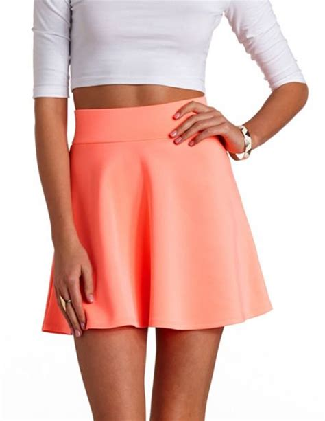 high waisted skater skirt russe