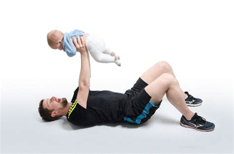 kid bench press jamie webb devises workout using baby as a weight daily
