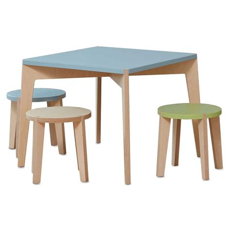 Modern Children S Furniture by Modern Table And Stool For Children By Blueroom
