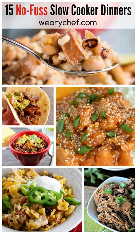 15 easy slow cooker dinners the weary chef