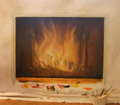 painting fireplace cool idea fireplace painting popsugar home
