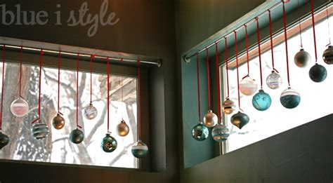 hanging ornaments in window blue i style seasonal style tips for keeping