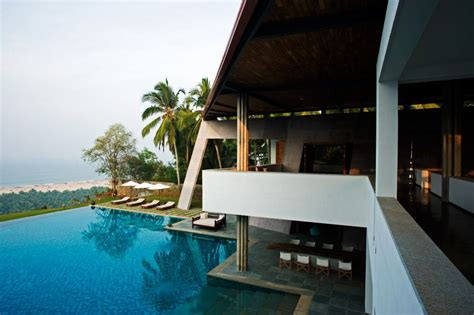 kerala home design with swimming pool the cliff house in south india with view of the arabian