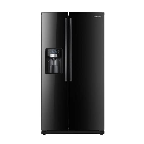 samsung fridge samsung rs267tdbp 25 5 cu ft side by side refrigerator black sears outlet