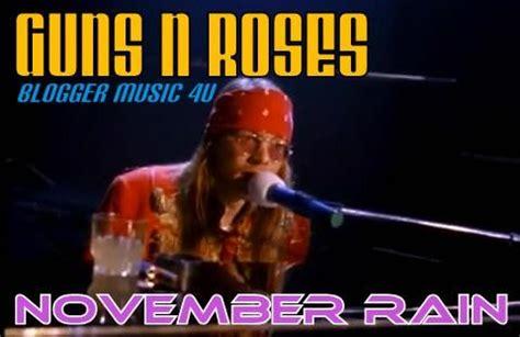 guns  roses november rain blogger