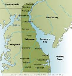 Delaware State Map by 302 Found