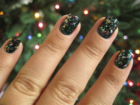Geby V List goose s glitter the 12 days of nails day 1