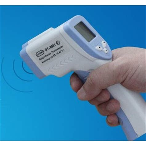 Thermometer Infrared Surabaya infrared forehead thermometer dt8861 blue white jakartanotebook